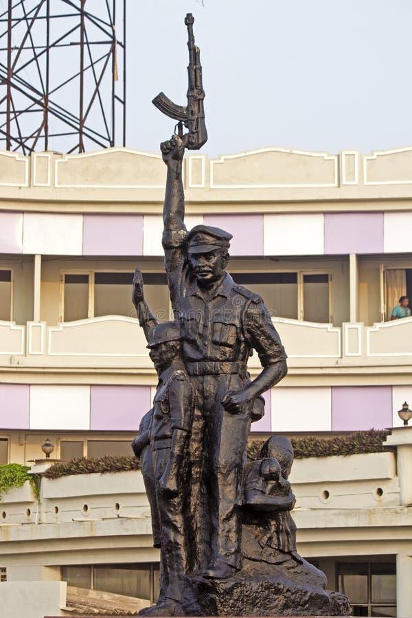 印地安警察的纪念碑在Vishakhapatnam 免版税库存图片