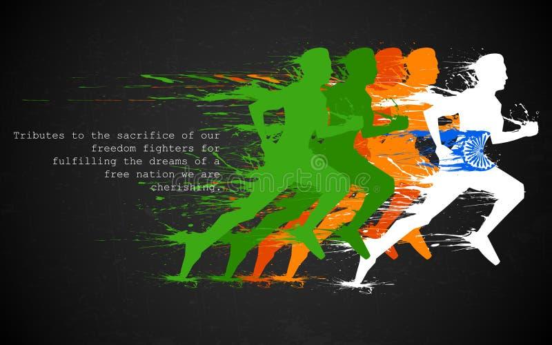 印地安赛跑者 向量例证