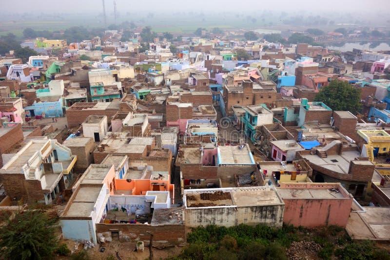 印地安郊区从上面 免版税库存图片