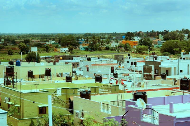 印地安都市看法霍苏尔 免版税图库摄影