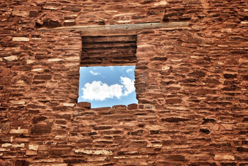 印地安镇废墟在新墨西哥 图库摄影