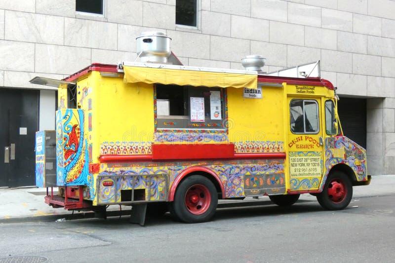 印地安食物卡车 免版税库存图片