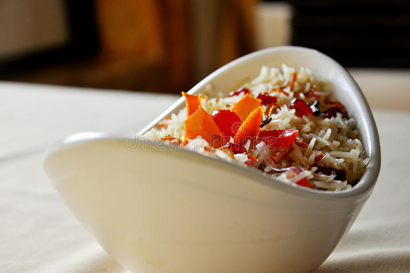 印地安食物biryani 免版税库存图片