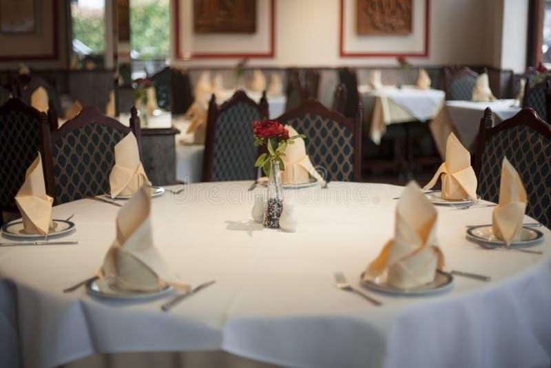 印地安餐馆表1 库存照片