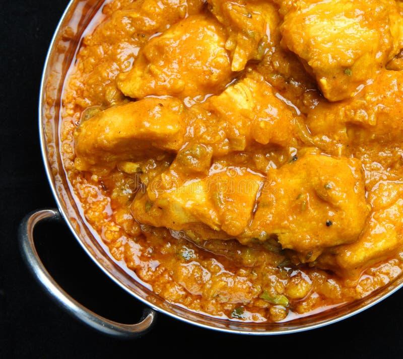 印地安鸡咖喱用扁豆 库存图片