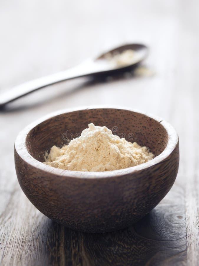 印地安鸡豆面粉 免版税库存照片