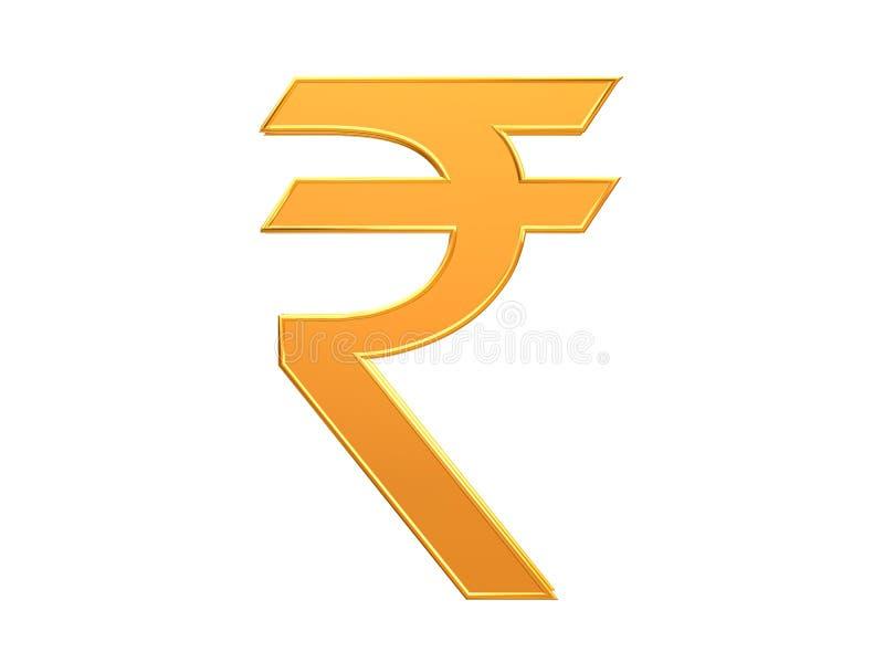印地安货币卢比标志设计 皇族释放例证