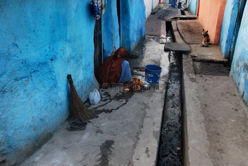 印地安贫民窟地区 免版税库存照片