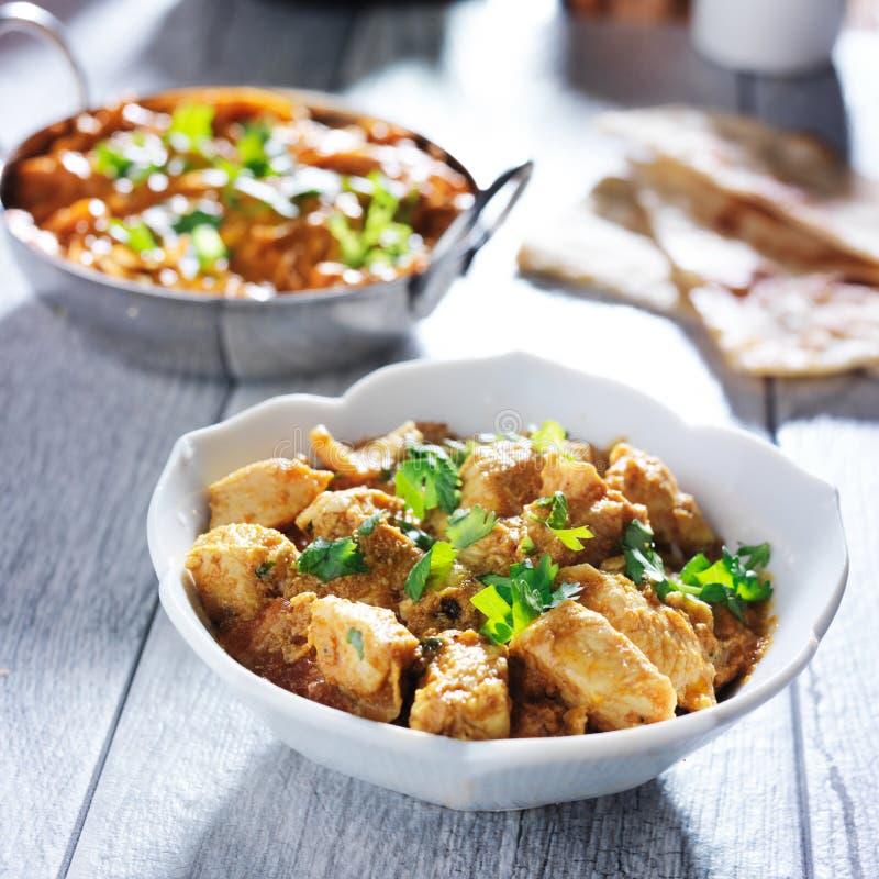 印地安黄油鸡咖喱 库存照片