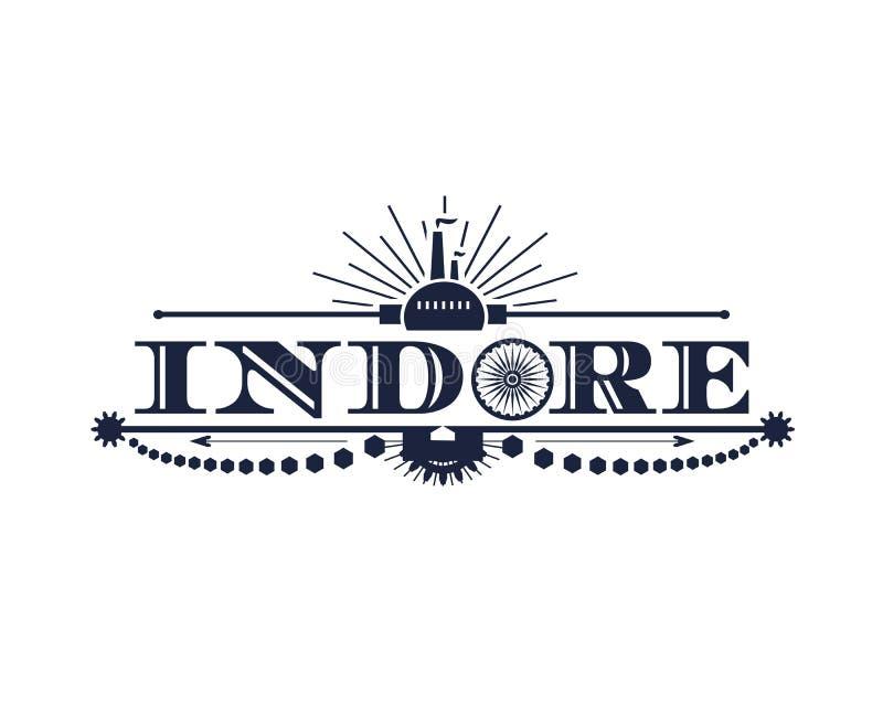 印多尔市名字 向量例证