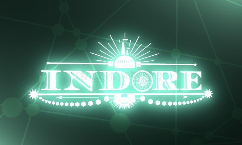印多尔市名字 库存例证