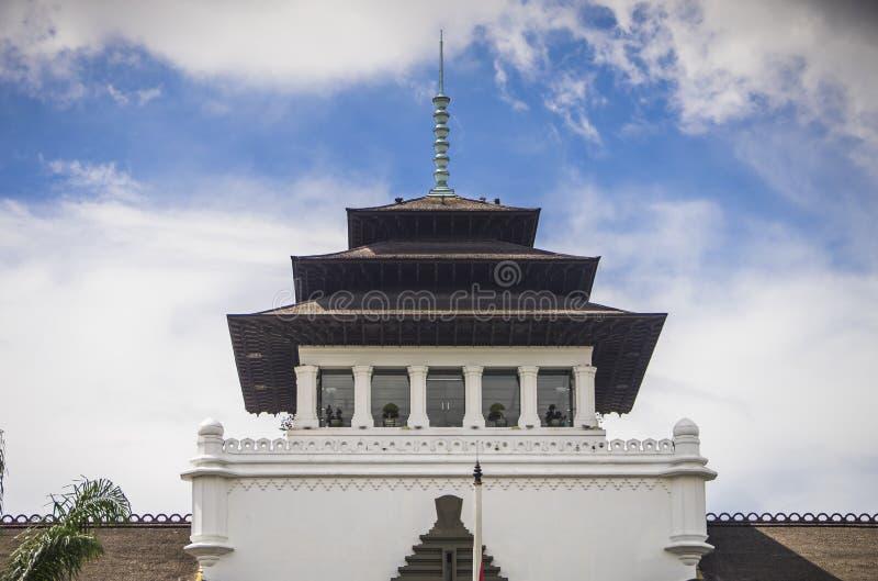 印尼万隆艺术装饰风格的古老历史建筑 — 盖东国 库存照片