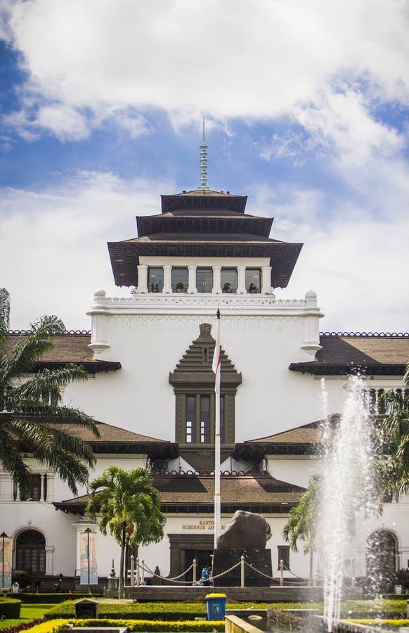 印尼万隆艺术装饰风格的古老历史建筑 — 盖东国 图库摄影