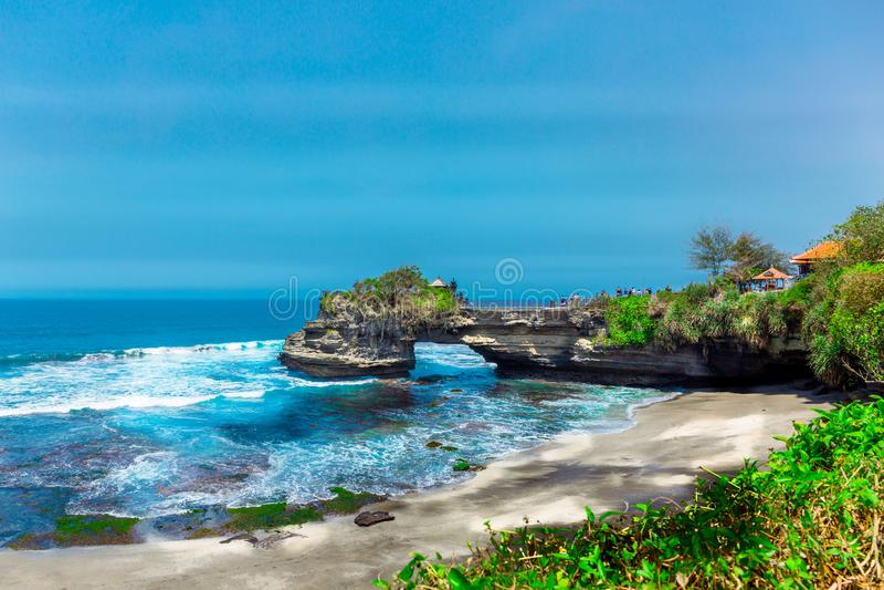 印尼巴厘岛巴都博龙印度教寺庙 免版税库存图片
