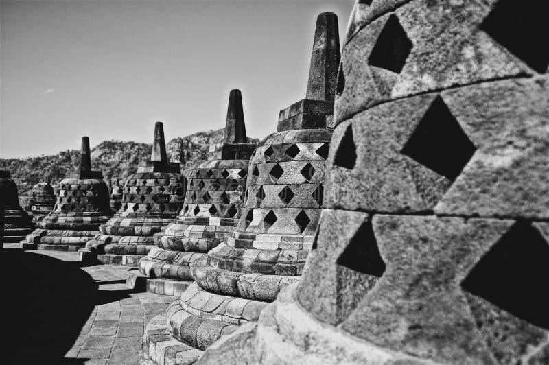 印尼日惹婆罗浮屠现货照片、插图和库存 图库摄影