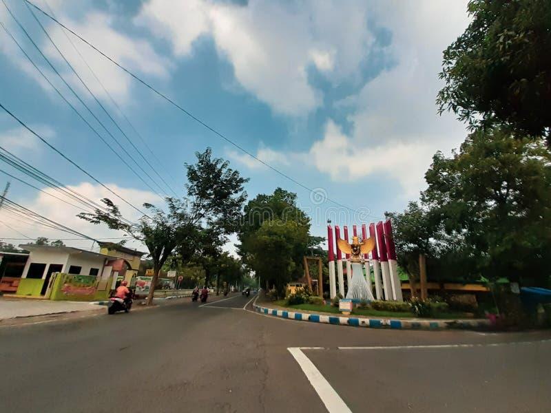 印尼霍菲法格鲁的蓝天 免版税库存图片