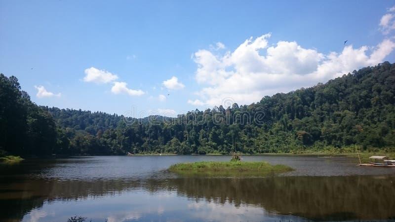 印尼须住湖 库存图片