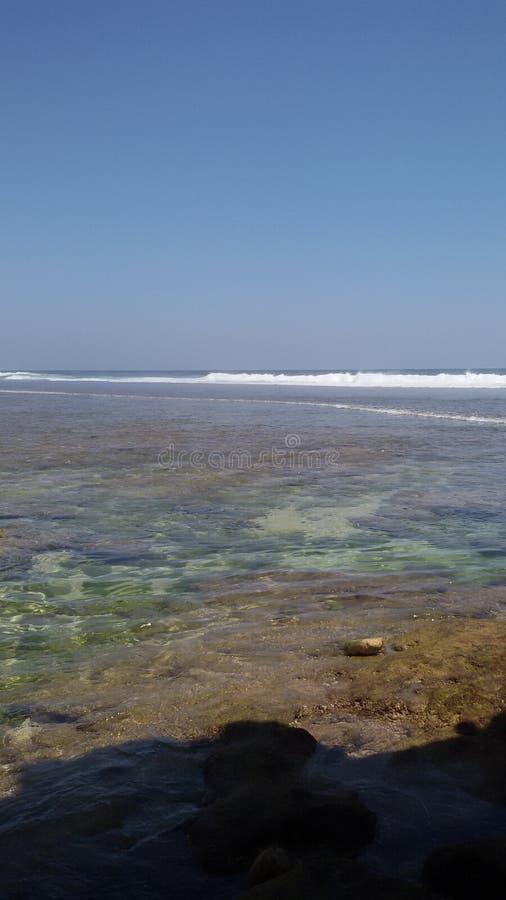 印尼TAMBAK海滩BLITAR 图库摄影