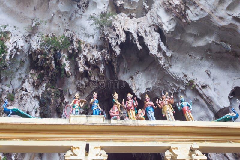 印度上帝传统雕象在巴图陷下,吉隆坡, Mal 免版税库存图片