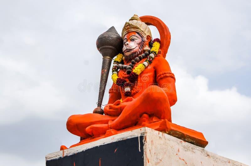 印度上帝Hanuman神象,印地安阁下Hanuman巨大的雕象  免版税库存图片