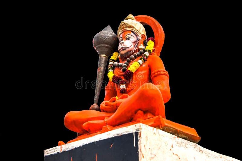 印度上帝Hanuman神象,印地安阁下Hanuman巨大的雕象  免版税库存照片