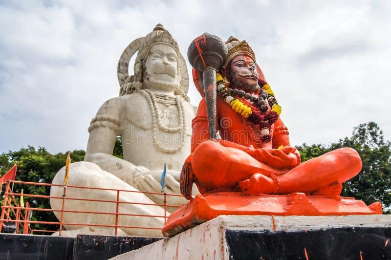 印度上帝Hanuman神象,印地安阁下Hanuman巨大的雕象  库存照片