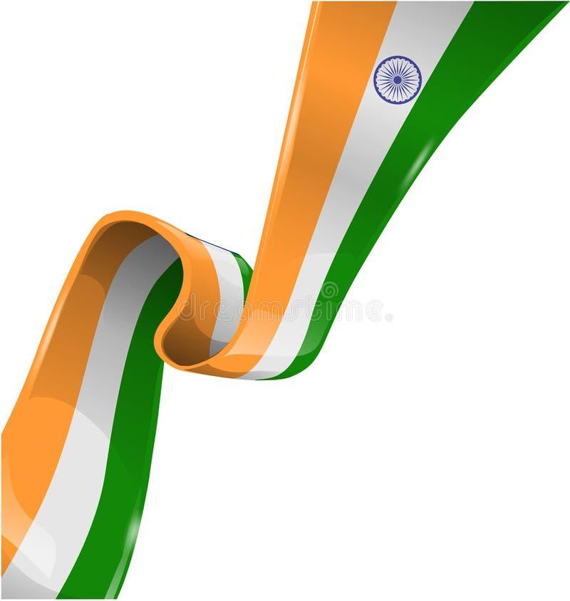 印度丝带旗子 向量例证