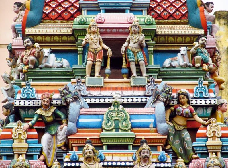 印度五颜六色的雕象在印度 图库摄影