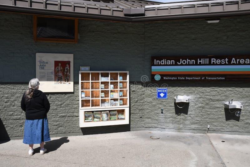 印度人Joh小山休息区在克利埃勒姆华盛顿美国 免版税图库摄影