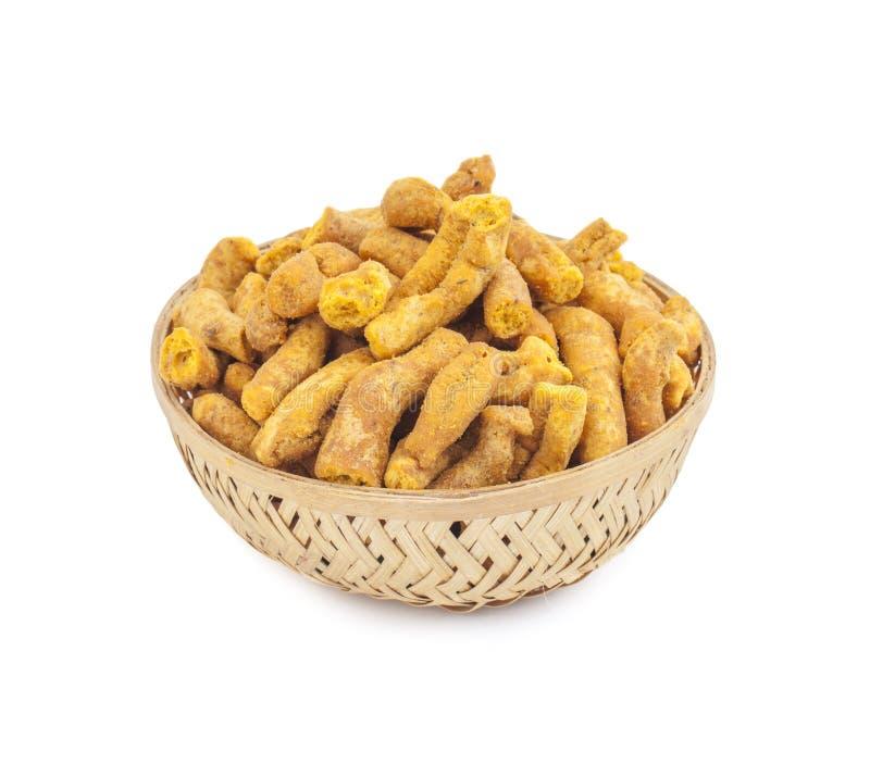 印度传统刺激性食物Ganthiya 免版税库存图片