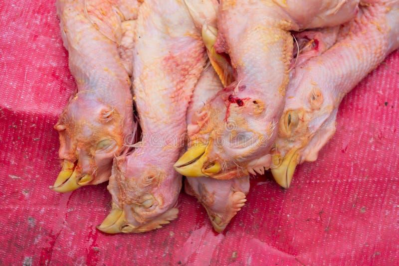 印度加尔各答的待售鸡肉 库存图片