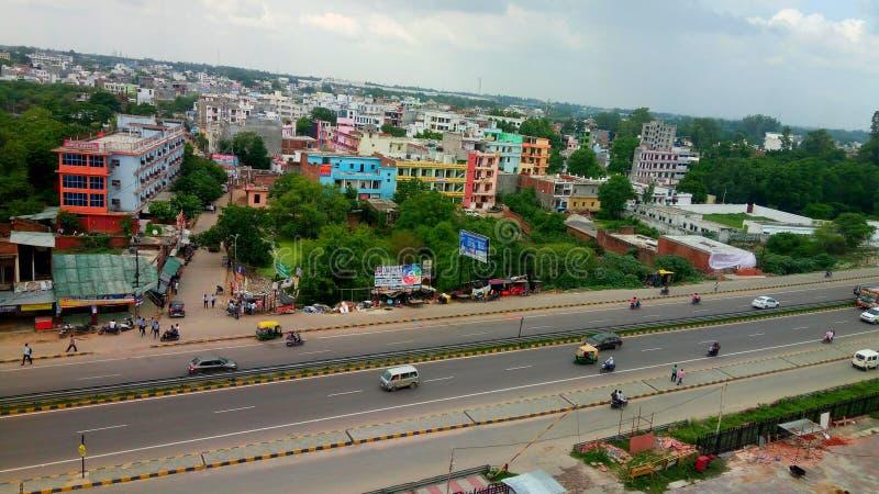 印度勒克瑙市公路 库存照片