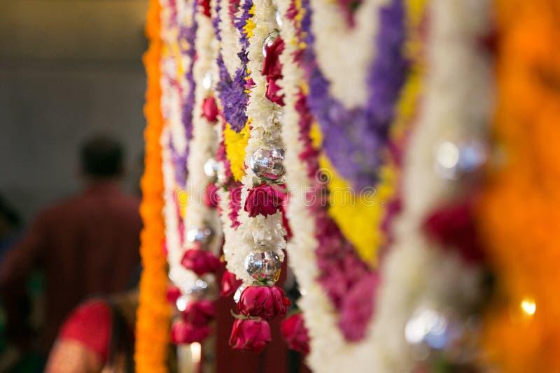 印度印度婚礼和屠妖节装饰 库存图片
