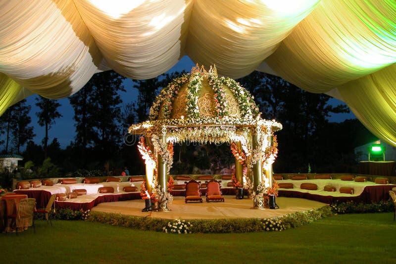 印度印第安人阶段婚礼 免版税库存照片