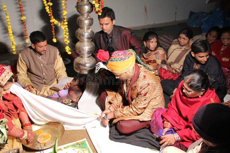 印度印第安传统婚礼 免版税图库摄影