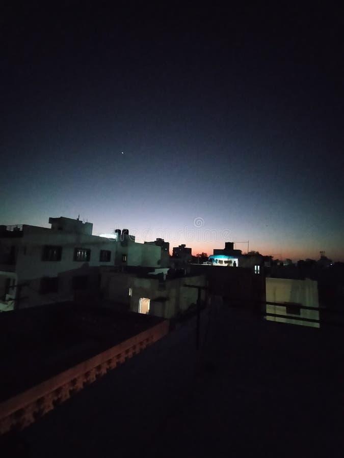 印度古吉拉特邦落日 图库摄影