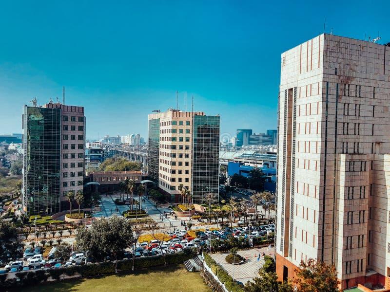 印度古尔冈 — 2020年3月9日:全球商业园大楼和办公室 图库摄影