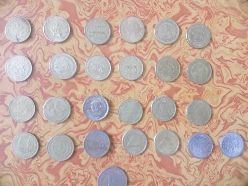 印度古色古香的货币 图库摄影