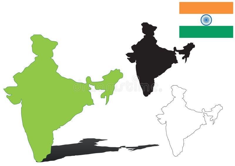 印度向量 皇族释放例证