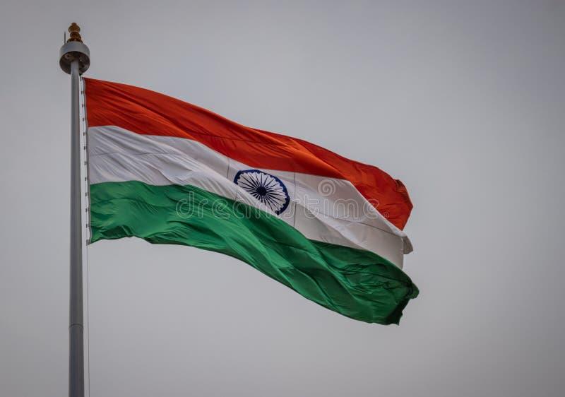 印度国民沙文主义情绪在天空 免版税图库摄影