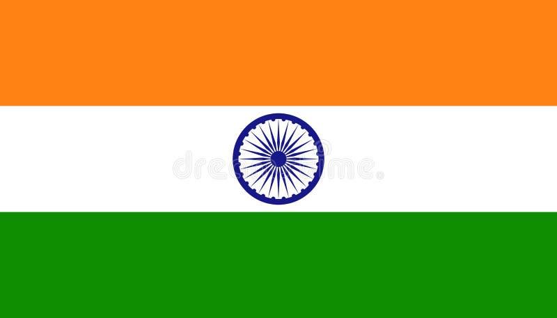 印度在平的样式的旗子象 r r 库存例证