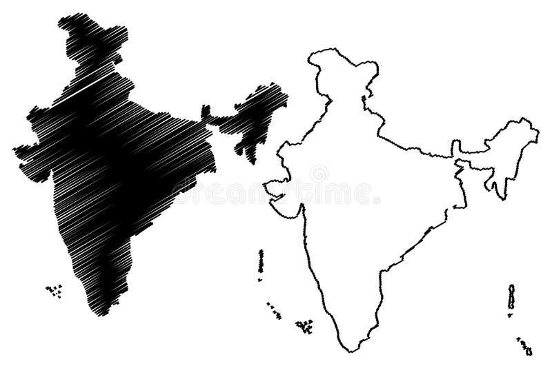 印度地图传染媒介 皇族释放例证