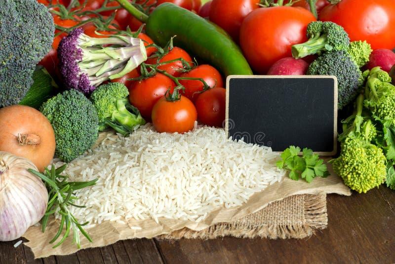 印度大米和vegatables 库存图片