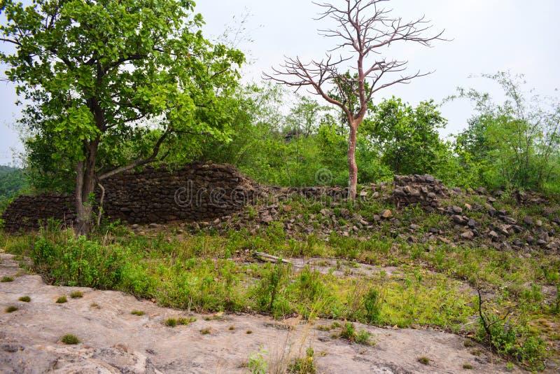 印度奥迪萨州Jharsuguda乌拉普加山景观 免版税库存照片