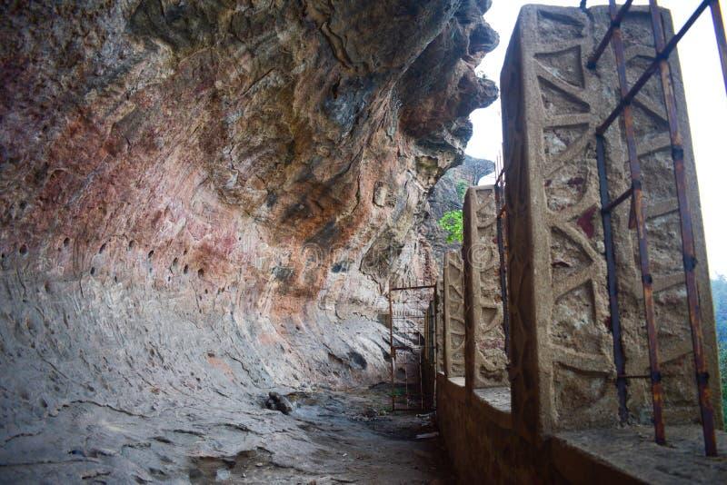 印度奥迪萨州Jharsuguda乌拉普加山景观 库存照片