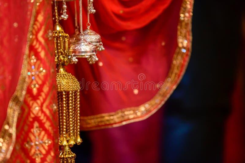 印度婚姻的结 库存图片