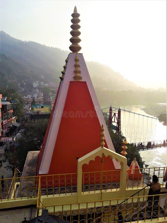 印度寺庙一个美好的建筑学视图在印度 免版税库存照片