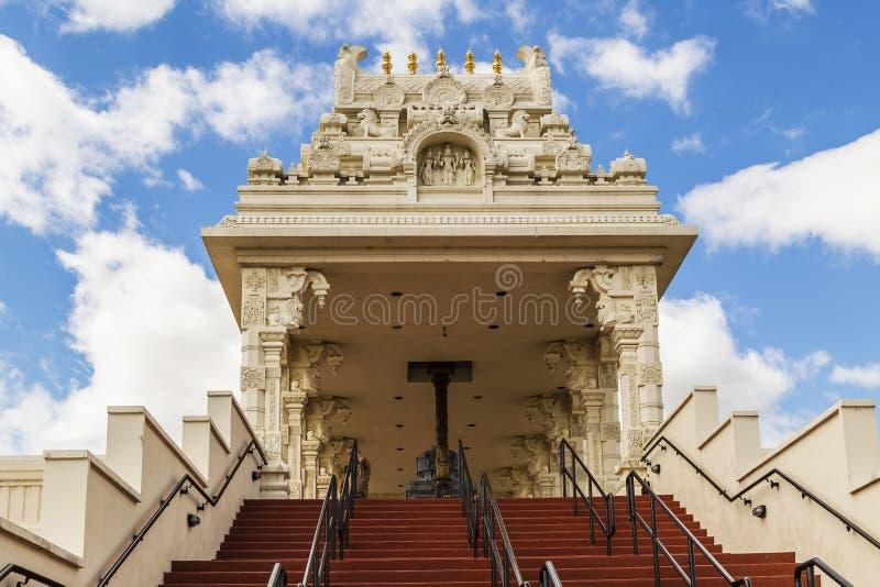 印度寺庙入口在芝加哥,伊利诺伊附近的 免版税库存图片