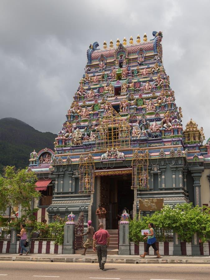 印度寺庙吸引力塞舌尔群岛 库存图片
