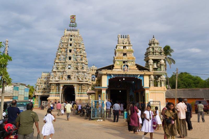 印度寺庙在亭可马里,斯里兰卡 库存照片